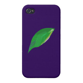A Single Green Leaf Case For iPhone 4