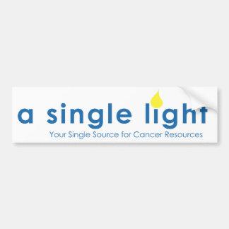 A Single Light Bumper Sticker