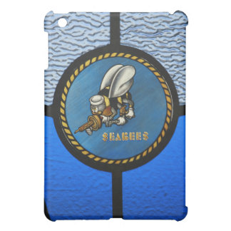 A single Seabee logo Cover For The iPad Mini
