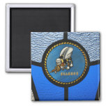 A single Seabee logo Square Magnet