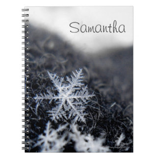 A single snowflake on stands out notebooks