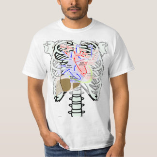 a skeleton_front dot t heart lever tshirts
