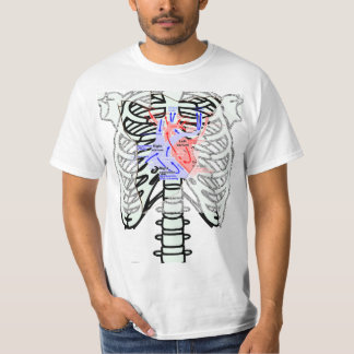 a skeleton_front dot t heart tshirt