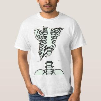a skeleton_front white t-shirts