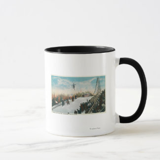 A Ski Tournament Jump Mug