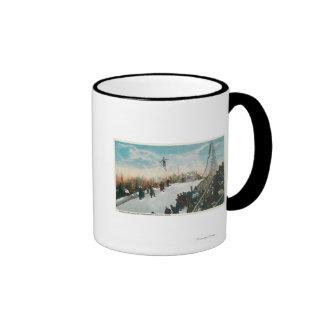 A Ski Tournament Jump Coffee Mugs