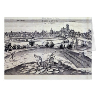 A Slate Quarry in Angers, 1561 Card