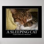 A Sleeping Cat Artwork Poster