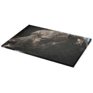 A sleeping pit bull dog cutting boards