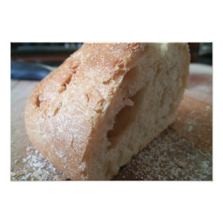 A slice of french bread photograph