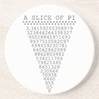 A Slice of Pi Graphic Drink Coasters