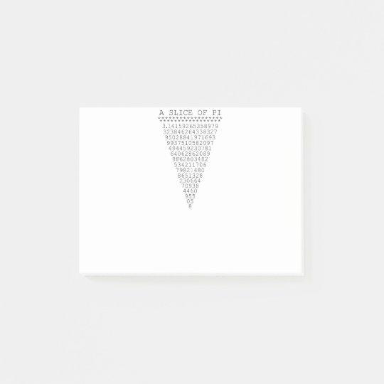 A Slice of Pi Presentation Post-it Notes