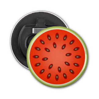 A Slice of Red Watermelon Bottle Opener
