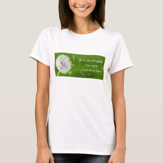 A Slight Change of Plan woman's T-Shirt