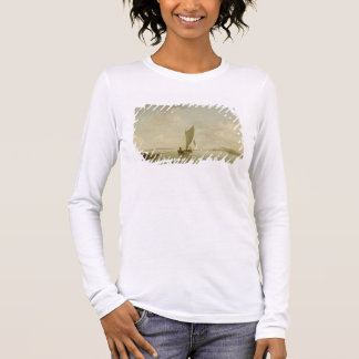 A Smack Under Sail in a Light Breeze in a River, c Long Sleeve T-Shirt
