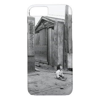 A small South Korean child sits alone_War Image iPhone 7 Case