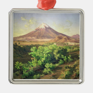 A Small Volcano in Mexican Countryside, 1887 (oil Christmas Ornament