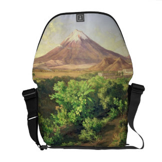 A Small Volcano in Mexican Countryside, 1887 (oil Commuter Bags