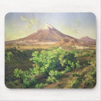 A Small Volcano in Mexican Countryside, 1887 (oil Mouse Mat