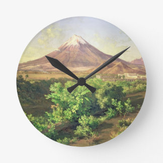 A Small Volcano in Mexican Countryside, 1887 (oil Wallclock