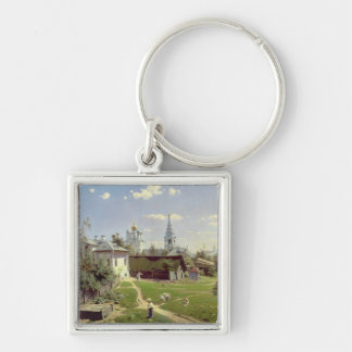 A Small Yard in Moscow, 1878 Key Ring