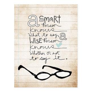 a smart person postcards