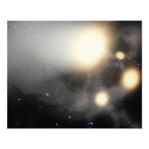 A smash-up of galaxies photo