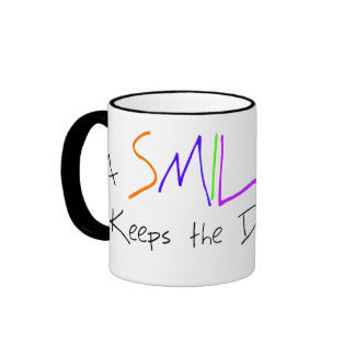 A Smile a Day Keeps the Doctor Away Ringer Mug