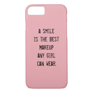 A smile is the best Makeup any girl can wear. iPhone 8/7 Case
