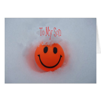 A Smiley Face -Son s Valentine s Day Greeting Card