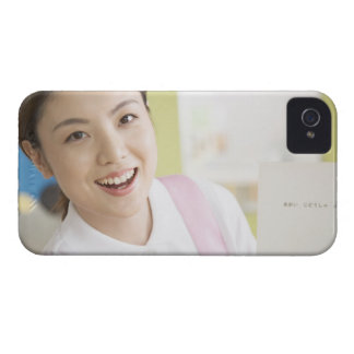 A smiling childminder iPhone 4 cover