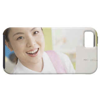 A smiling childminder iPhone 5 covers