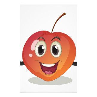 A smiling fruit custom stationery