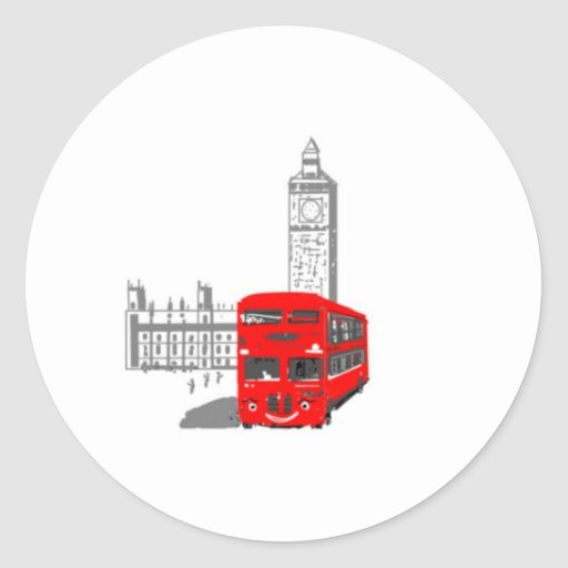 A smiling London Bus Stickers