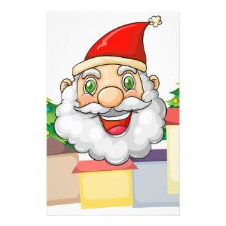 A smiling Santa hugging the village Stationery