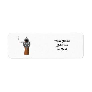 A Smoking Gun Return Address Label
