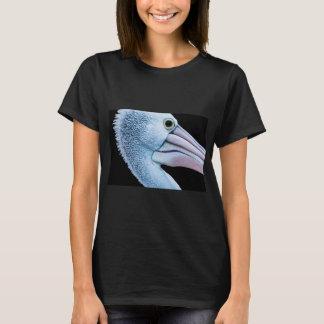 A snow shite bird with light pink beak T-Shirt