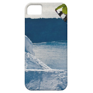 A snowboarder jumping barely there iPhone 5 case
