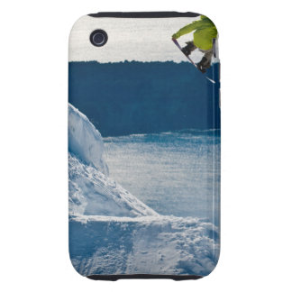 A snowboarder jumping iPhone 3 tough cases