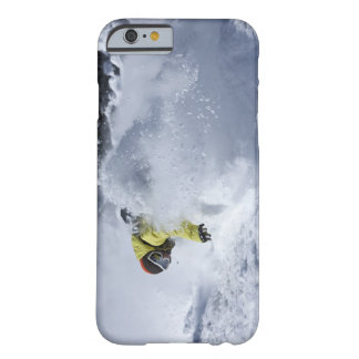 A snowboarder rips untracked powder turns in 2 barely there iPhone 6 case