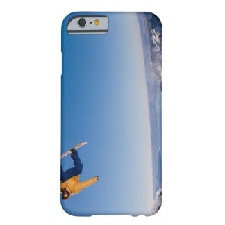 A snowboarder spins off a jump in Argentina Barely There iPhone 6 Case