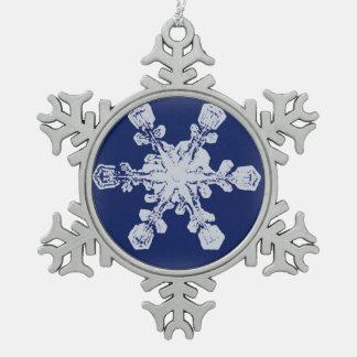 A Snowflake 10 Snowflake Pewter Snowflake Decoration