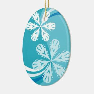 A Snowflake Storm Christmas Ornament