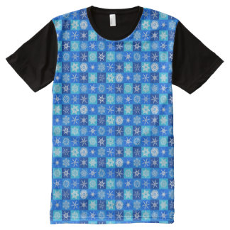 A SNOWFLAKE TILE PATTERN! oh the weather outside.. All-Over Print T-Shirt