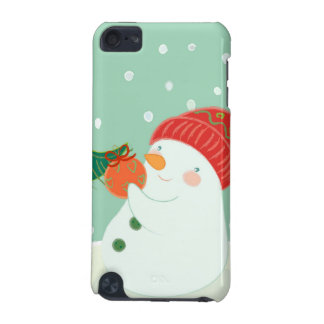 A snowman hanging an ornament on a tree iPod touch (5th generation) cover