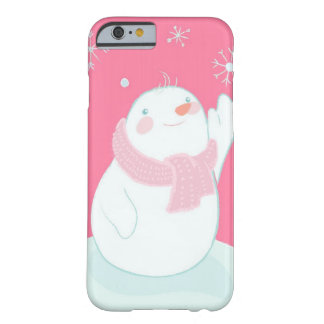 A snowman reaching for a falling snowflake barely there iPhone 6 case