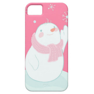 A snowman reaching for a falling snowflake case for the iPhone 5