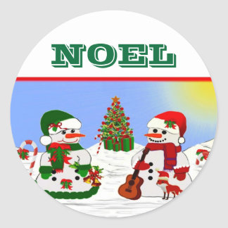 A Snowman's Christmas Classic Round Sticker