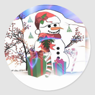 A Snowman's Christmas Stickers