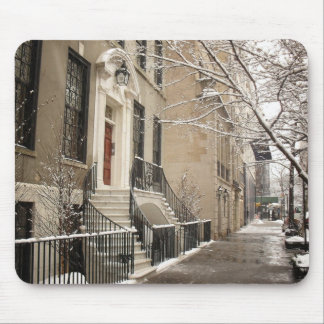 A Snowy Day on the Upper East Side Mouse Mat
